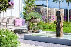 Wasserspiel, belgisch-englischer Gartenstil