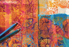 Creating art journal or collage backgrounds can be such a great creative process! Some free ideas here using printmaking.