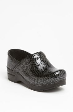 New work shoes...yes, please  'Black Mosaic' Dansko 'Professional' Clog | Nordstrom