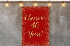 image 0 Birthday Backdrop, 40 Years Old, 40th Birthday, Backdrops, Banner, Party, Image, Picture Banner, 40 Rocks