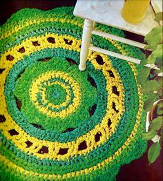 Vintage Boho Rag Rug PDF Crochet Pattern por MomentsInTwine en Etsy