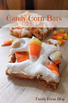 Fall Treats - Candy Corn Bars - Family Focus Blog - Fall Treats Recipes - Fall Treats to Bake - Fall Treats for School - Fall Treats for the Classroom