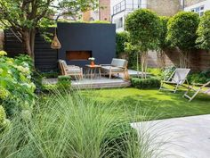 Little Garden Design Evening Garden - Garden Club London Modern Courtyard, Courtyard Design, Modern Garden Design, Modern Design, Patio Interior, Interior Exterior, Garden Club, Terrace Garden, Garden Bed