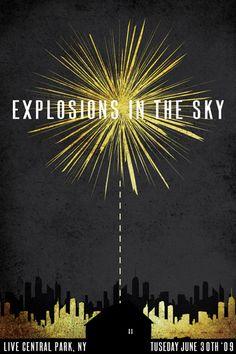 gigpostercollective:    Explosions In The Sky | Joe Siconolfi
