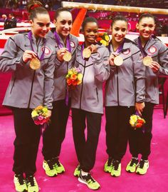 """The Fab Five"" American Gymnastics Team"