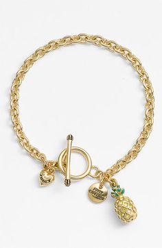 Juicy Couture 'Creatures of Paradise - Mini Wish' Pineapple Bracelet