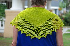 Ravelry: Sewanee pattern by Beth Bradford (free knitting pattern for top down shawl with mesh edging...designed for sock weight yarn)