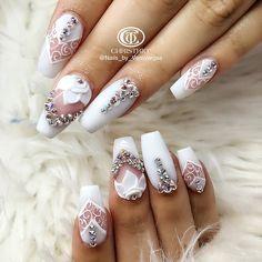 "464 Likes, 8 Comments - Veronica Vargas (@veronicas_nail_art) on Instagram: ""#christrionails #3dnaildesign #3dnailart #showmethemani #3d #nails #nailart #nails2inspire…"""
