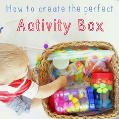 Heather Hess: How to Create the Perfect Activity Box for Kids. A list of busy activities for toddlers in an organized way