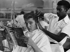 Elvis at the barber shop
