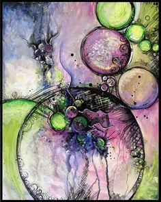 Ce mois-ci, pour rester dans la thématique des cercles, je vous présente une jeune artiste pleine de talent : Sandra Trubin . Ce n'est p...