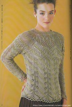 Мобильный LiveInternet Ажурный пуловер   Alisago - Дневник Alisago  