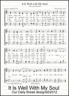 our daily bread - it is well with my soul hymn Hymns Of Praise, Praise Songs, Praise And Worship, Church Songs, Church Music, Gospel Music, Music Songs, Music Chords, Piano Music