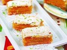 Lime Bars | Serious Eats : Recipes Yum! Be sure to take your skinny first! •*.¸¸♥✿´¯`*•.¸¸✿ SHARE ✿¸¸.•*´¯`✿♥¸¸.*• Get your skinny on! http://tntbender.sbc90daychallenge.com/?SOURCE=ptrio