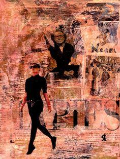 18-MUROS de ARTE (Cris Acqua) Pintura MIxta Collage. 30x21 cm. MUROS de ARTE. Mixed Media.  He jugado con seda en los muros, con pinturas, con periódicos, con cepillos y pinceles impregnados de cola, con mis recuerdos, con mis fantasias, con mi rabia, con mi alegria, pero siempre , siempre..como amante encaprichada, obsesivamente del ARTE... (Cris Acqua) www.crisacqua.com