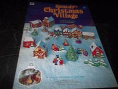 Vintage Whitman santa's Christmas Village Cut Out Village & Lady  Ornaments 1975