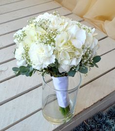 Carnation, Hydrangea and babies breath bouquet