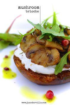 Goat's Cheese & Mushroom Brioche Toast