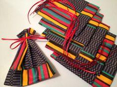 Kwanzaa, African Christmas Mini Gift Bags by HugsandHolidays, $5.00