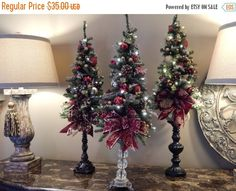 Topiary, Table top tree, Country French, Elegant Holiday Décor, Candle stand only for sale. Match up with our topiary collection. There are 3
