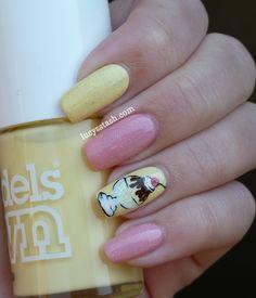 nail art - nail design - Ice Cream Sundae nail art manicure with tutorial #nailart