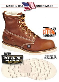 dec57295d8d8 804-4655 Thorogood Men s MAXwear Safety Boots - Brown -- Wow! I love this.  Check it out now!   Hiking shoes