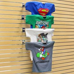 22 in. Chrome T Shirt Display for Slatwall | Specialty Store Services