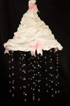 Fancy Bead and Pearl Baby, Nursery Mobile with Canopy. $65.00, via Etsy.