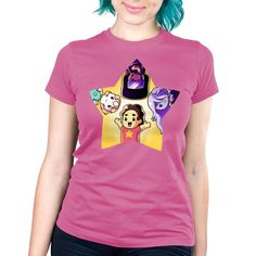 The Crystal Gems - This official Steven Universe t-shirt featuring Steven Universe, Amethyst, Pearl and Garnet is only available at TeeTurtle!