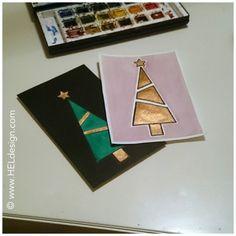 Det er fortsatt litt tid igjen til å lage julekort så her har du noen enkle eksempler på kort du kjapt kan lage selv, og som kan lages i mange ulike varianter.