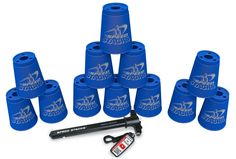 Stacking Games - Speed Stacks Sport Stacking Set * For more information, visit image link. Purple Cups, Blue Cups, Stack Game, Cup Games, Unusual Gifts, Water Bottle, Cream, Sports, Fun