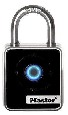 Master Lock 4400D Indoor Bluetooth Smart Padlock, 2-Inch Wide Body, .875-Inch Shackle Height, 9/32-Inch Diameter Shackle #deals