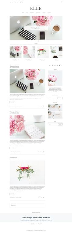 WordPress Blog Theme. Feminine, modern, Stylish blog theme that is mobile Responsive (affiliate)