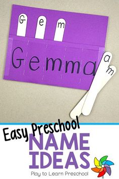 Easy do-it-yourself name ideas for preschoolers. These activities are affordable, simple to put together, and will be fun for preschoolers to enjoy. Learning their names is so important, so why not make it fun.