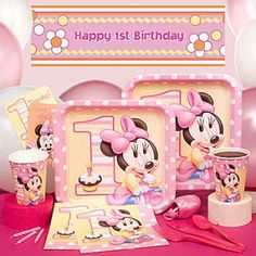 Minnie Mouse 1st Birthday Party Pack for 8