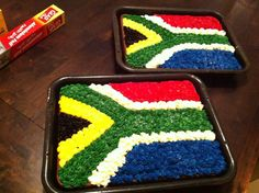 Proudly South African buttercream cake South African Flag, South African Recipes, Sour Cream Enchiladas, Buttercream Cake, Creative Food, Karen Bennett, Cake Decorating, Dessert Recipes, Baking