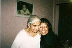 Manjinder Raiyat with her beloved nan who passed away tragically of Alzheimer's