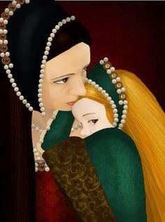 I think the artist has captured the love and bond between a mother and daughter, with the pain and heartbreak of their final parting...