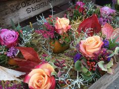 Blumen & Pflanzen - Kürbissgestecke - ein Designerstück von cottagegarden24 bei DaWanda