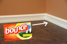 Clean Baseboards with Fabric Softener