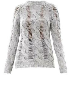 156 Carven Twisted cable-knit sweater on shopstyle.co.uk