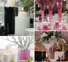 Water beads used in centerpieces!