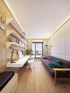 Family friendly home packed with modern decor ideas & home design features for different rooms. Find storage ideas, new furniture styles and colour combinations Furniture Styles, New Furniture, Futuristisches Design, Skyfall, Flat Interior, Lounge, Contemporary Interior, Modern Decor, Home Office