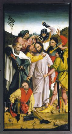 Gefangennahme Christi; Judaskuss; Malchusszene 1470-1480; Wartberg an der Krems; Österreich; Oberösterreich; Pfarrkirche St. Kilian http://tarvos.imareal.oeaw.ac.at/server/images/7017866.JPG