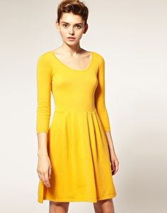 Finally caved...mustard yellow skater dress for spring!