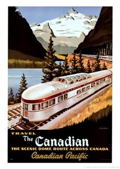 I plan to take this train through the Rockies ♥♥♥ Canadian Pacific Train 1955