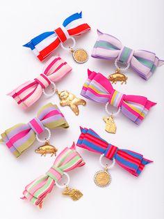 Talia | ヘアピン Diy Bow, Diy Ribbon, Ribbon Bows, Diy Hair Accessories, Handmade Accessories, Blue Crafts, Diy And Crafts, Bijoux Diy, Handicraft
