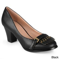 Journee Collection Women's 'Nora' Stacked Heel Loafer Pumps