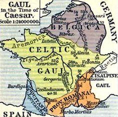 Map of Gaul at the t...