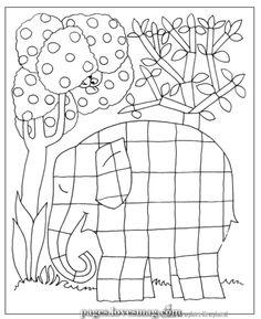 Elmar Elefant Ausmalbild … Elmar elefant Elefant ausmalbild